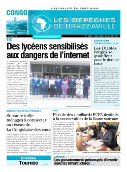 Les Dépêches de Brazzaville : Édition brazzaville du 27 mars 2019