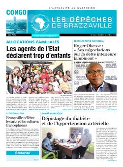 Les Dépêches de Brazzaville : Édition brazzaville du 02 avril 2019