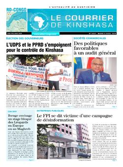 Les Dépêches de Brazzaville : Édition brazzaville du 09 avril 2019