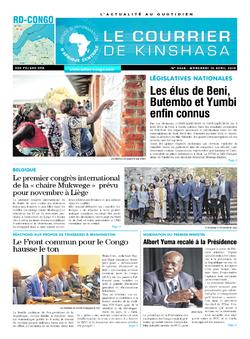 Les Dépêches de Brazzaville : Édition brazzaville du 10 avril 2019