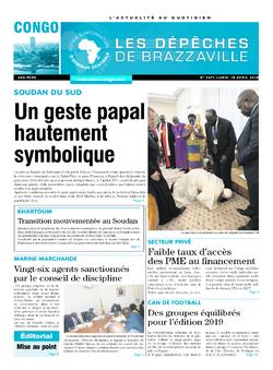 Les Dépêches de Brazzaville : Édition brazzaville du 15 avril 2019