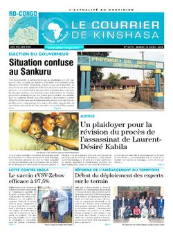 Les Dépêches de Brazzaville : Édition brazzaville du 16 avril 2019