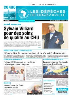 Les Dépêches de Brazzaville : Édition brazzaville du 17 avril 2019