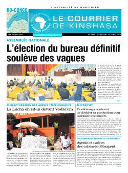 Les Dépêches de Brazzaville : Édition brazzaville du 19 avril 2019