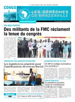 Les Dépêches de Brazzaville : Édition brazzaville du 30 avril 2019