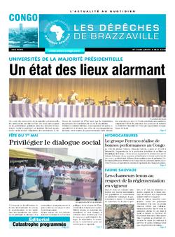 Les Dépêches de Brazzaville : Édition brazzaville du 02 mai 2019