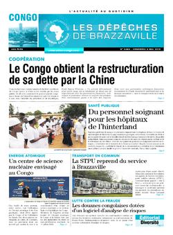Les Dépêches de Brazzaville : Édition brazzaville du 03 mai 2019
