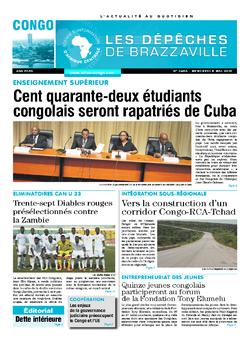 Les Dépêches de Brazzaville : Édition brazzaville du 08 mai 2019