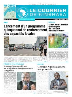 Les Dépêches de Brazzaville : Édition brazzaville du 09 mai 2019
