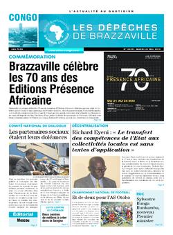 Les Dépêches de Brazzaville : Édition brazzaville du 21 mai 2019