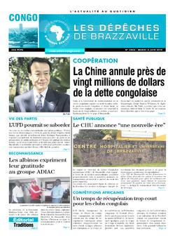 Les Dépêches de Brazzaville : Édition brazzaville du 04 juin 2019