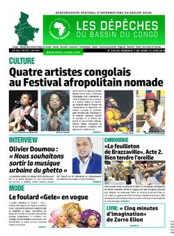 Les Dépêches de Brazzaville : Édition du 6e jour du 08 juin 2019
