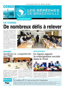 Les Dépêches de Brazzaville : Édition brazzaville du 11 juin 2019