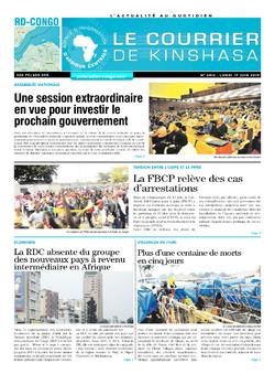 Les Dépêches de Brazzaville : Édition brazzaville du 17 juin 2019