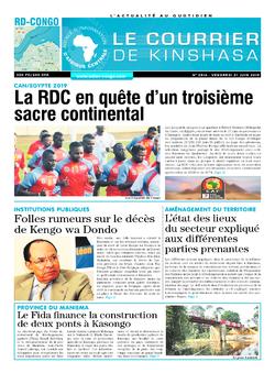 Les Dépêches de Brazzaville : Édition brazzaville du 21 juin 2019