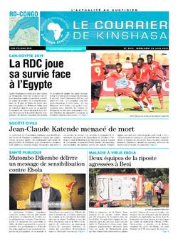 Les Dépêches de Brazzaville : Édition brazzaville du 26 juin 2019