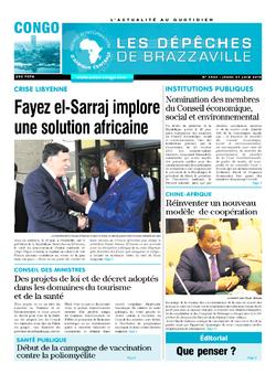 Les Dépêches de Brazzaville : Édition brazzaville du 27 juin 2019
