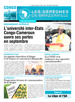 Les Dépêches de Brazzaville : Édition brazzaville du 28 juin 2019