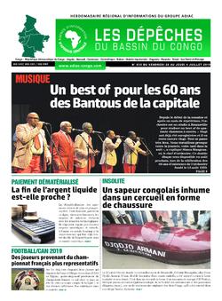 Les Dépêches de Brazzaville : Édition du 6e jour du 29 juin 2019