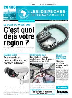 Les Dépêches de Brazzaville : Édition brazzaville du 01 juillet 2019