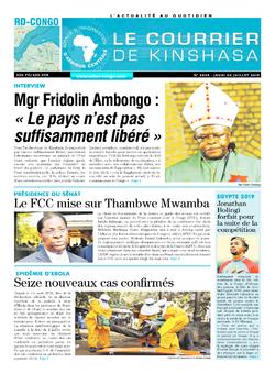 Les Dépêches de Brazzaville : Édition brazzaville du 04 juillet 2019