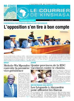 Les Dépêches de Brazzaville : Édition brazzaville du 05 juillet 2019