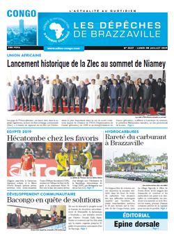 Les Dépêches de Brazzaville : Édition brazzaville du 08 juillet 2019