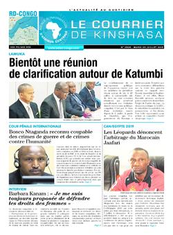 Les Dépêches de Brazzaville : Édition brazzaville du 09 juillet 2019