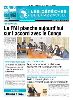 Les Dépêches de Brazzaville : Édition brazzaville du 11 juillet 2019