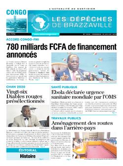 Les Dépêches de Brazzaville : Édition brazzaville du 19 juillet 2019
