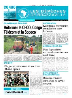 Les Dépêches de Brazzaville : Édition brazzaville du 22 juillet 2019