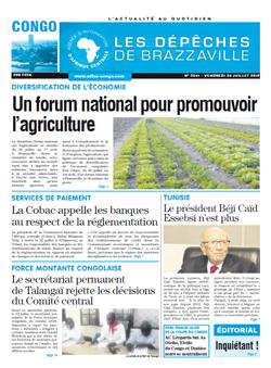 Les Dépêches de Brazzaville : Édition brazzaville du 26 juillet 2019
