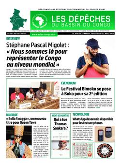 Les Dépêches de Brazzaville : Édition du 6e jour du 27 juillet 2019