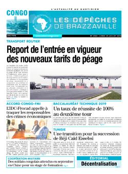 Les Dépêches de Brazzaville : Édition brazzaville du 29 juillet 2019