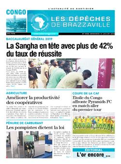 Les Dépêches de Brazzaville : Édition brazzaville du 31 juillet 2019