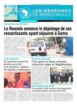 Les Dépêches de Brazzaville : Édition brazzaville du 02 août 2019