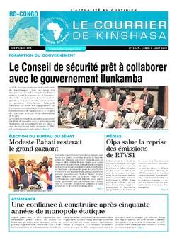 Les Dépêches de Brazzaville : Édition brazzaville du 05 août 2019