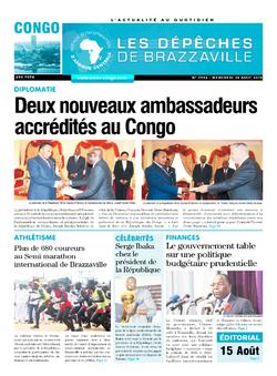Les Dépêches de Brazzaville : Édition brazzaville du 14 août 2019