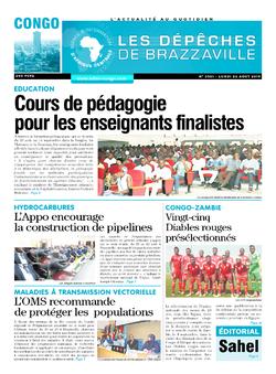 Les Dépêches de Brazzaville : Édition brazzaville du 26 août 2019