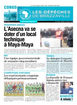 Les Dépêches de Brazzaville : Édition brazzaville du 27 août 2019