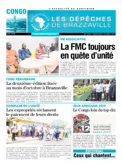 Les Dépêches de Brazzaville : Édition brazzaville du 28 août 2019