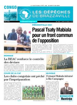 Les Dépêches de Brazzaville : Édition brazzaville du 29 août 2019