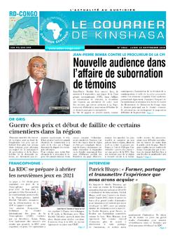 Les Dépêches de Brazzaville : Édition brazzaville du 02 septembre 2019