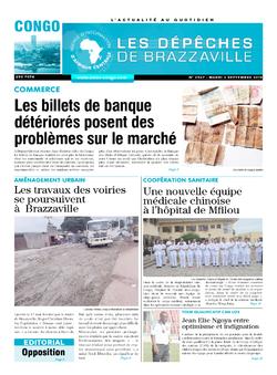 Les Dépêches de Brazzaville : Édition brazzaville du 03 septembre 2019