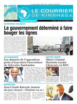 Les Dépêches de Brazzaville : Édition brazzaville du 05 septembre 2019