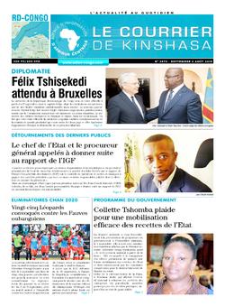 Les Dépêches de Brazzaville : Édition brazzaville du 06 septembre 2019