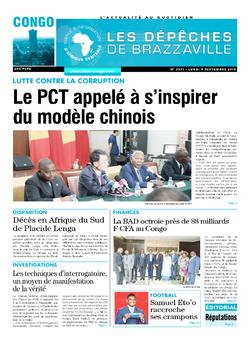 Les Dépêches de Brazzaville : Édition brazzaville du 09 septembre 2019