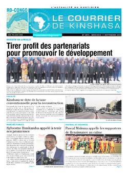 Les Dépêches de Brazzaville : Édition brazzaville du 11 septembre 2019