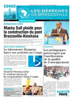 Les Dépêches de Brazzaville : Édition brazzaville du 12 septembre 2019