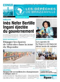 Les Dépêches de Brazzaville : Édition brazzaville du 18 septembre 2019